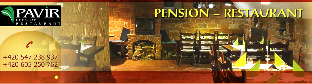 Pavir - pension - restaurant, +420 547 238 937, +420 605 250 762